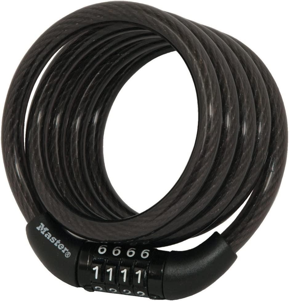 Master Lock 8143D Combination Bike Lock, 4 ft long, Black