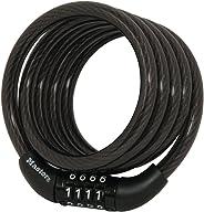 Master Lock 8143D Cerradura de cable autobobinado 4 pies x5/16