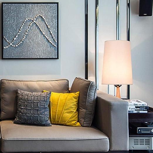 Lámpara de mesa moderna, cálida, regulable, para dormitorio ...
