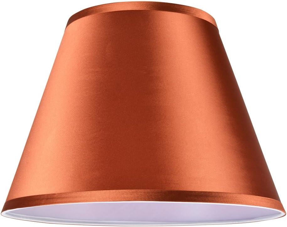 Aspen Creative Burnt Orange, 32184, Transitional Hardback Empire Shaped Spider Construction Lamp Shade, 13 Wide 7 x 13 x 9 1 2