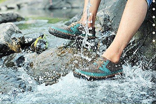 MOHEM Männer Poseidon Mesh Wanderschuhe Casual Wasser Schuhe Braun66