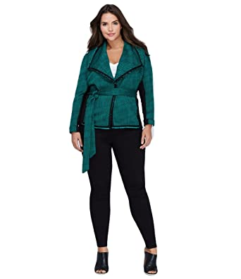 0412ffc4b88 Lane Bryant Tweed Jacket (26 28) at Amazon Women s Clothing store