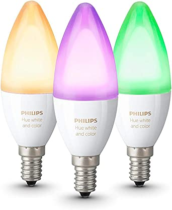 Philips Hue White and Color Ambiance - Pack de 3 bombillas LED E14 ...