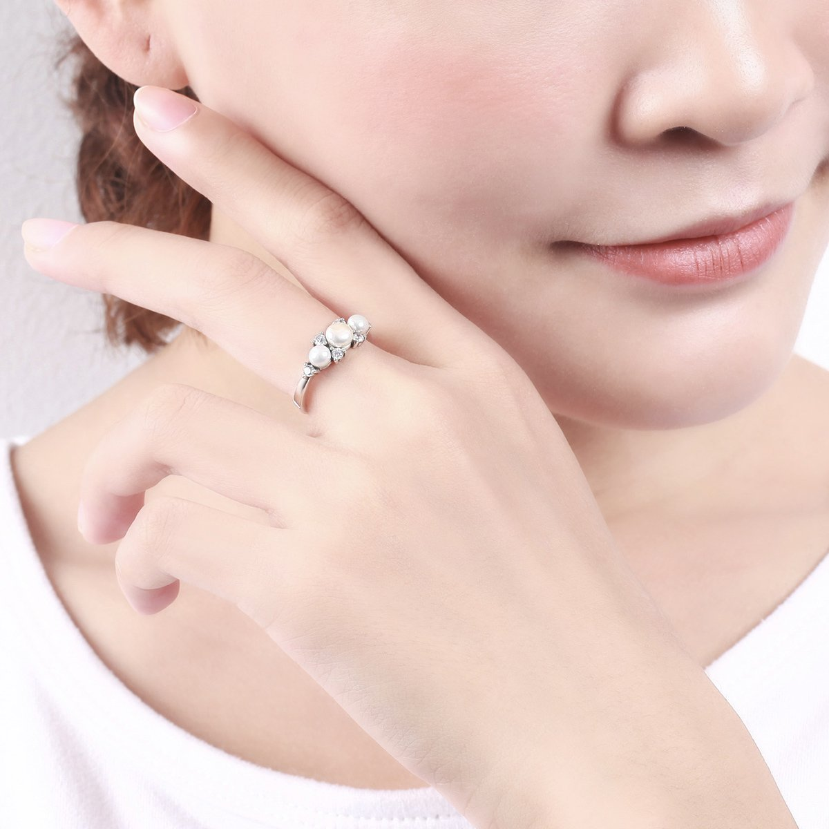 Amazon.com: BAMOER 925 Sterling Silver Gorgeous Love Freshwater ...