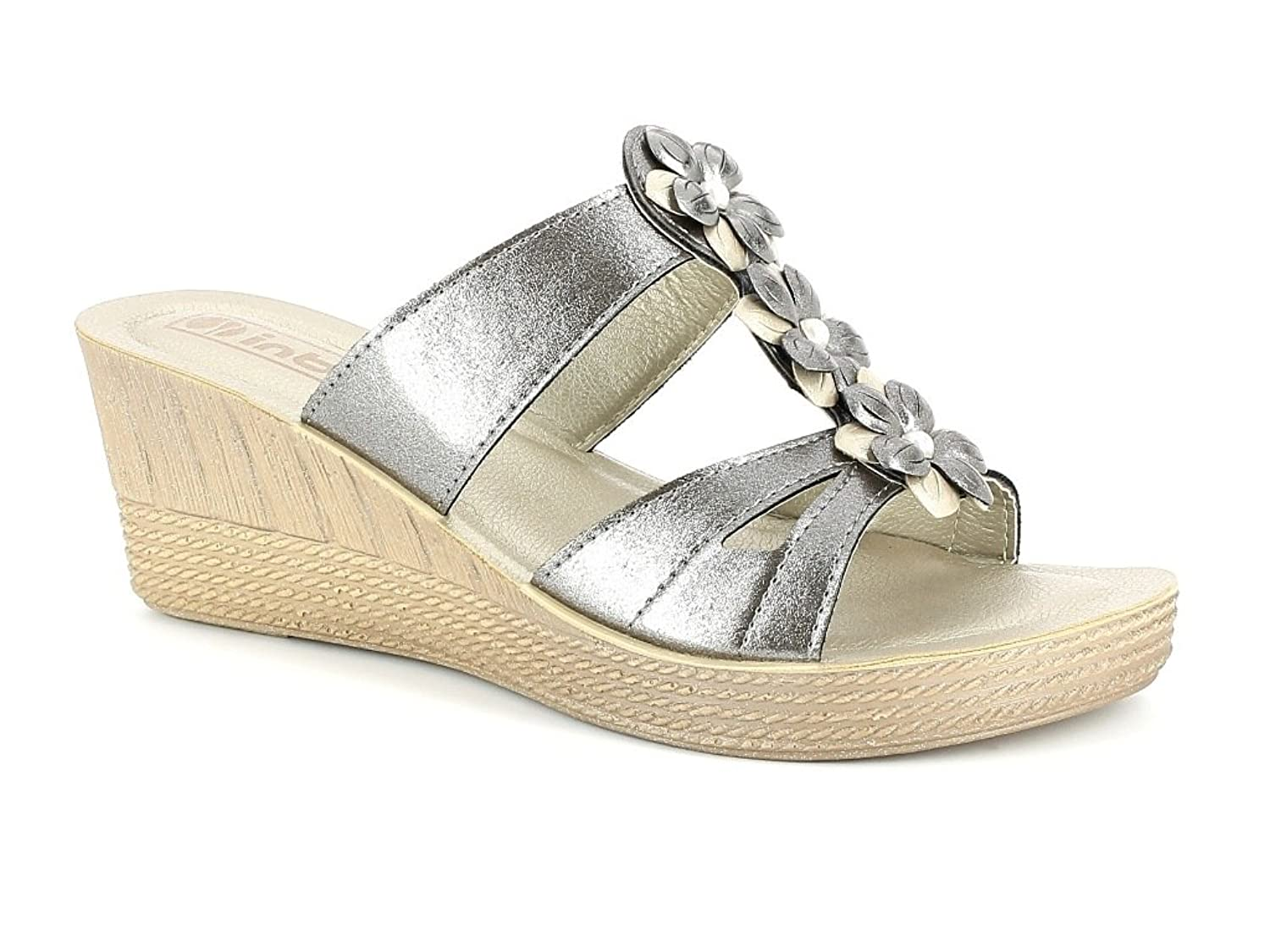 New Womans Stud Sliders Platform Mule Summer Sandals Wedge Slip On Shoes Size