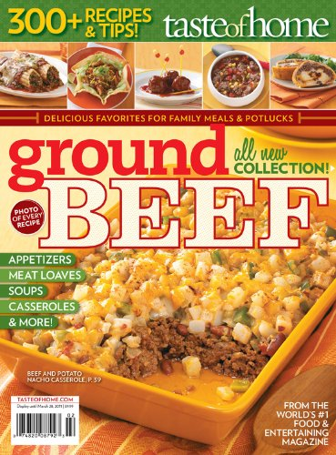 Taste of Home Ground Beef Cookbook (Beef Sandwich Recipes)