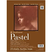 """Strathmore 400 Series Pastel Pad, Assorted Colors, 11""""x14"""" Glue Bound, 24 Sheets"""