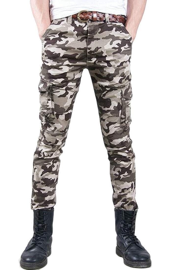 SELX Men Military Work Outdoor Camo Utility Multi-Pockets Cargo Pants