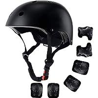 Casco para niños, equipo de protección, juego de cascos para bicicleta y monopatín, juego de protectores para…