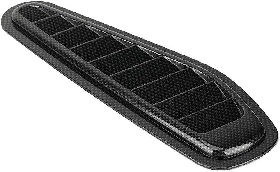 2pcs Carbon Fiber Style Car Air Flow Intake Decorative Scoop Bonnet Vent Hood Cover Universal Car Air Flow Intake Cover
