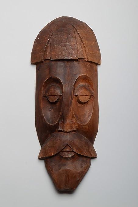 Mascara de madera artesanal colgante para pared de souvenir