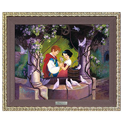 'The Wishing Well' Framed Limited Edition Canvas by Tim Rogerson from the Disney Silver Series; with COA The Wishing Well Framed Limited Edition Canvas by Tim Rogerson from the Disney Silver Series; with COA