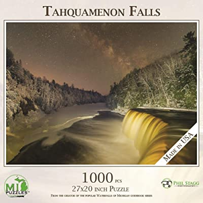 Tahquamenon Falls with Milky Way - 1,000 Piece MI Puzzles Jigsaw Puzzle: Toys & Games