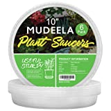 MUDEELA 6 Pack of 10 inch Plant Saucer, Durable