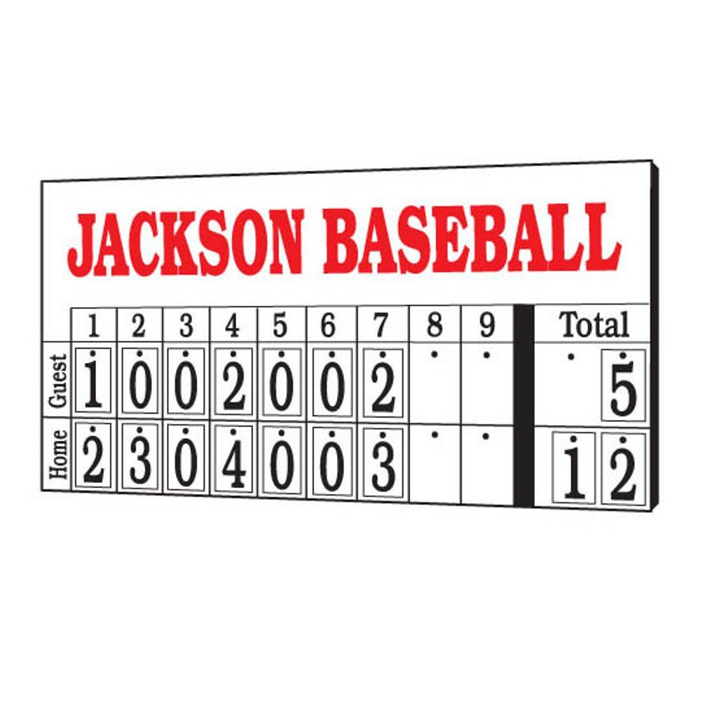amazon com mac hanging numbers baseball scoreboard scoreboards