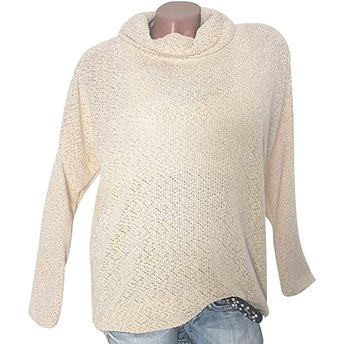 big sale 242f8 be971 JYJM Damen Strickpullover Sweatshirt Frauen Strickpulli ...