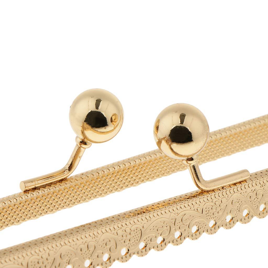 Bronze as described P Prettyia Sew In Coin Bag Purse Metal Frame Handbag Clasp Fastening 25.5cm