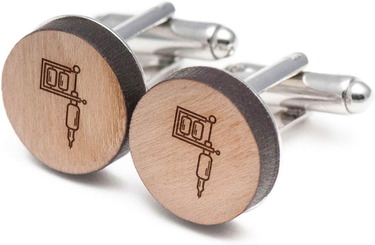 Tatuaje máquina gemelos, Gemelos de madera hecho a mano en los ...