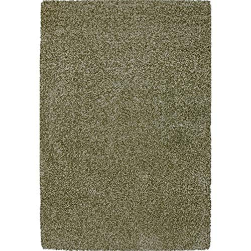 Image of Abacasa Comfort Shag Area Rug, 5-Feet 3-Inch by 7-Feet 6-Inch, Apple Green
