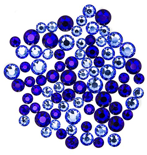 Swarovski - Create Your Style Hotfix Mix Coblt Sapphire 3 packages of 80 Piece (240 Total Crystals)