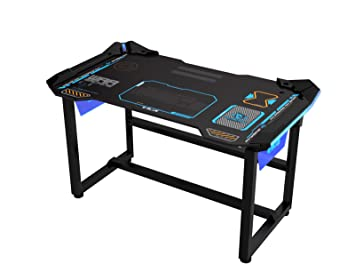 amazon com e blue usa wireless glowing led pc gaming desk table rh amazon com cheap desk for pc gaming desk for gaming pc setup