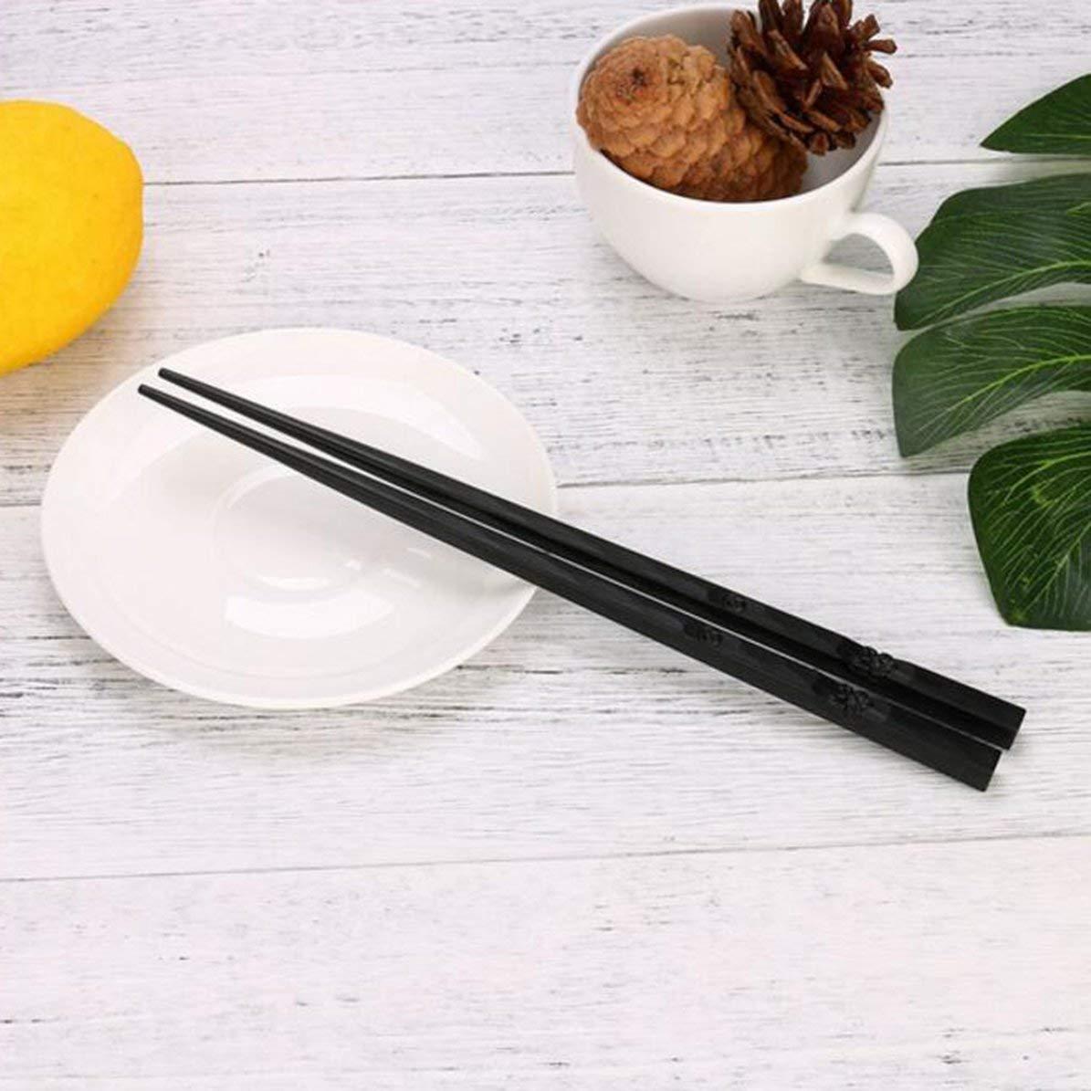 1 par de palillos japoneses Aleaci/ón antideslizante Color de madera Sushi Chop Sticks Set Regalo chino Familia Amigos Colegas Regalos Hex/ágono de color madera WEIWEITOE