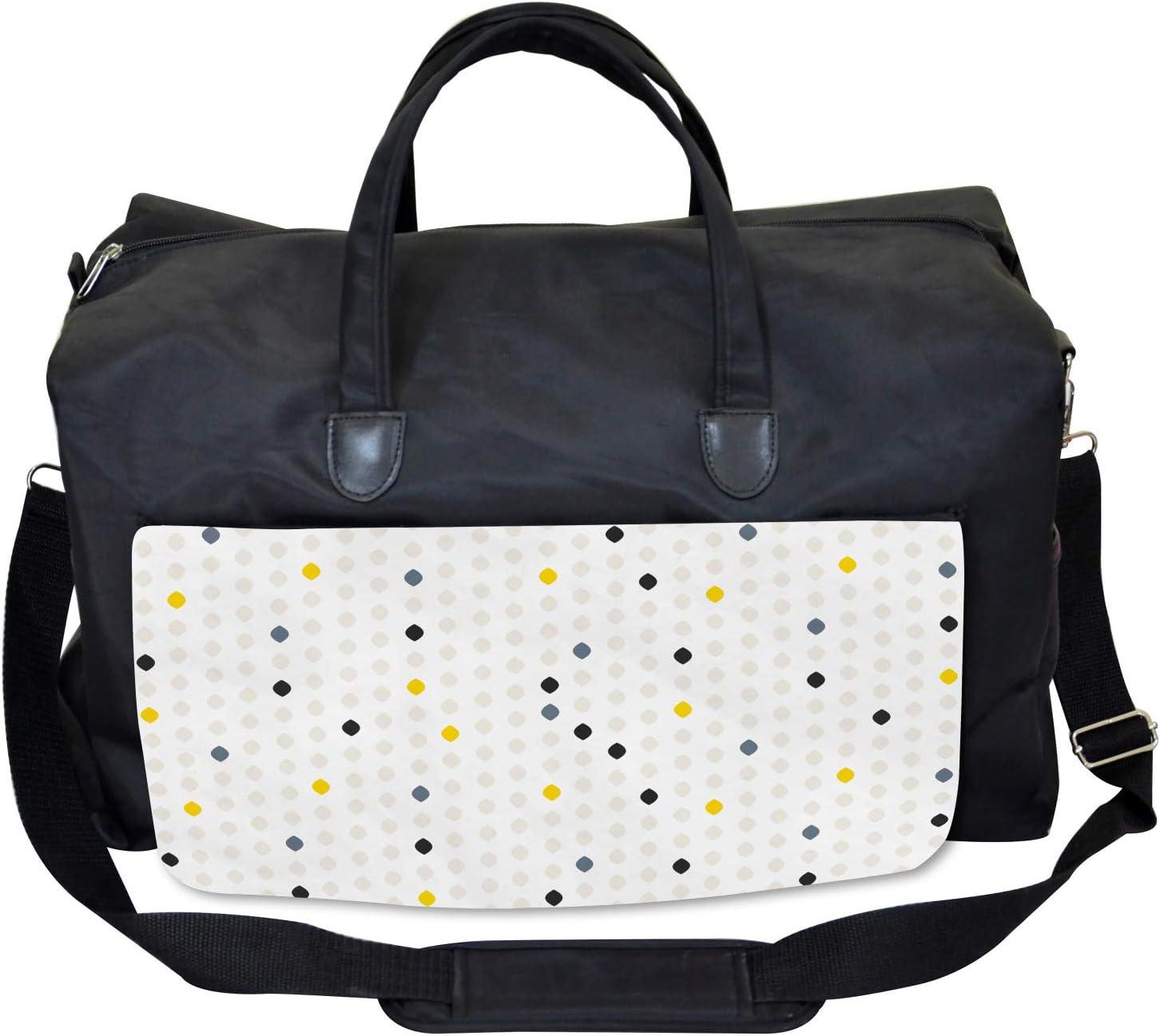 Large Weekender Carry-on Ambesonne Modern Gym Bag Polka Dots Geometric