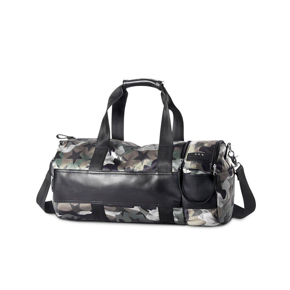フィットネスバッグ男性と女性のトレーニングパッケージの潮の迷彩メッセンジャーバッグショルダーバッグ多機能旅行袋 B07G15S6X8