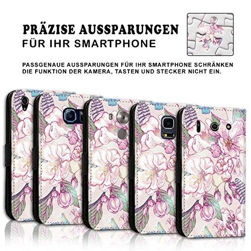 Wallet Book Style Flip Handy Tasche Case Schutz Hülle Schale Motiv Etui für Apple iPhone 6 Plus / 6S Plus - Design Flip MVD214