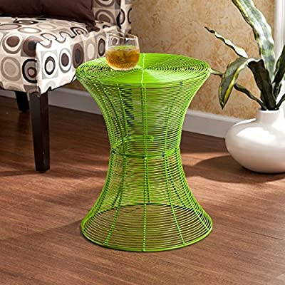 Southern Enterprises, Metal Spiral Accent Table - Max weight capacity: 100 lbs. Constructed of solid iron wire and indoor/outdoor, powder-coated finish Light assembly required - living-room-furniture, living-room, end-tables - 61Lq7HZ%2B6tL. SS400  -