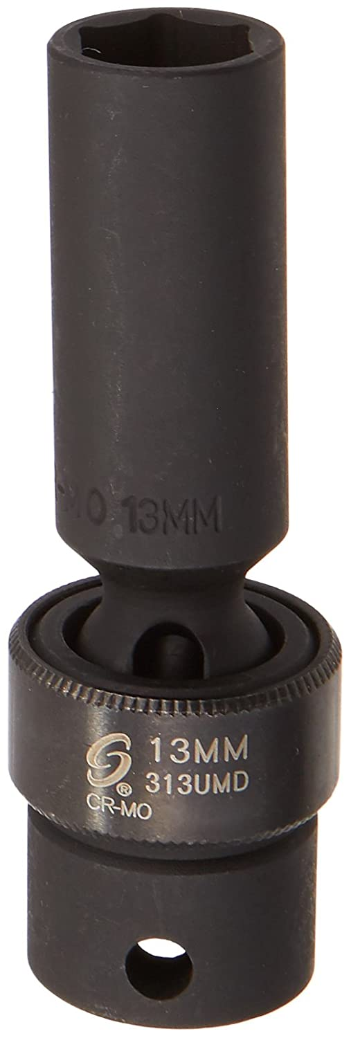 Sunex 313umd 3/8-Inch Drive 13-Mm Deep Universal Impact Socket Sunex International