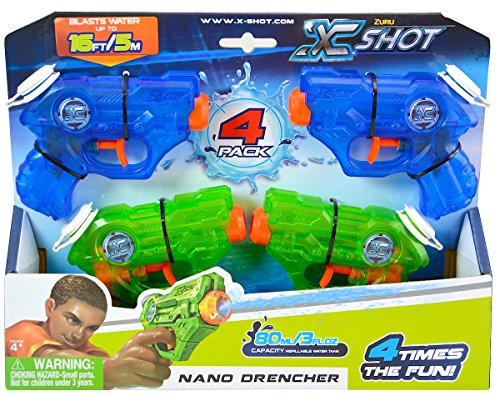aster Gun Warfare Nano Drencher 4pk (Spider Man Water Gun)