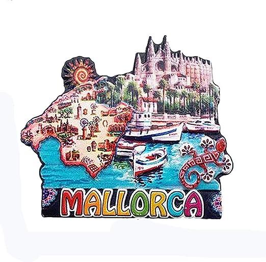 Imán 3D para nevera de Mallorca España, regalo de recuerdo de ...