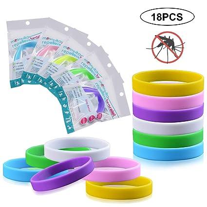 huge selection of c7b67 3195e INTVN Mückenschutz Armband (18 Stück)   Anti Mücken Mosquito mit Citronella  Mückenarmband   Natürliche zuverlässige Mückenabwehr Naturals Schutz, ...