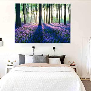 Tapestry Wall Hanging,Trippy Tapestry Wall Hanging Forest Purple Lavender Plants Wall Tapestry Psychedelic For Bedroom Teen Girls Cute Indie Room Decor Aesthetic Small Dorm College Tapestries ,70