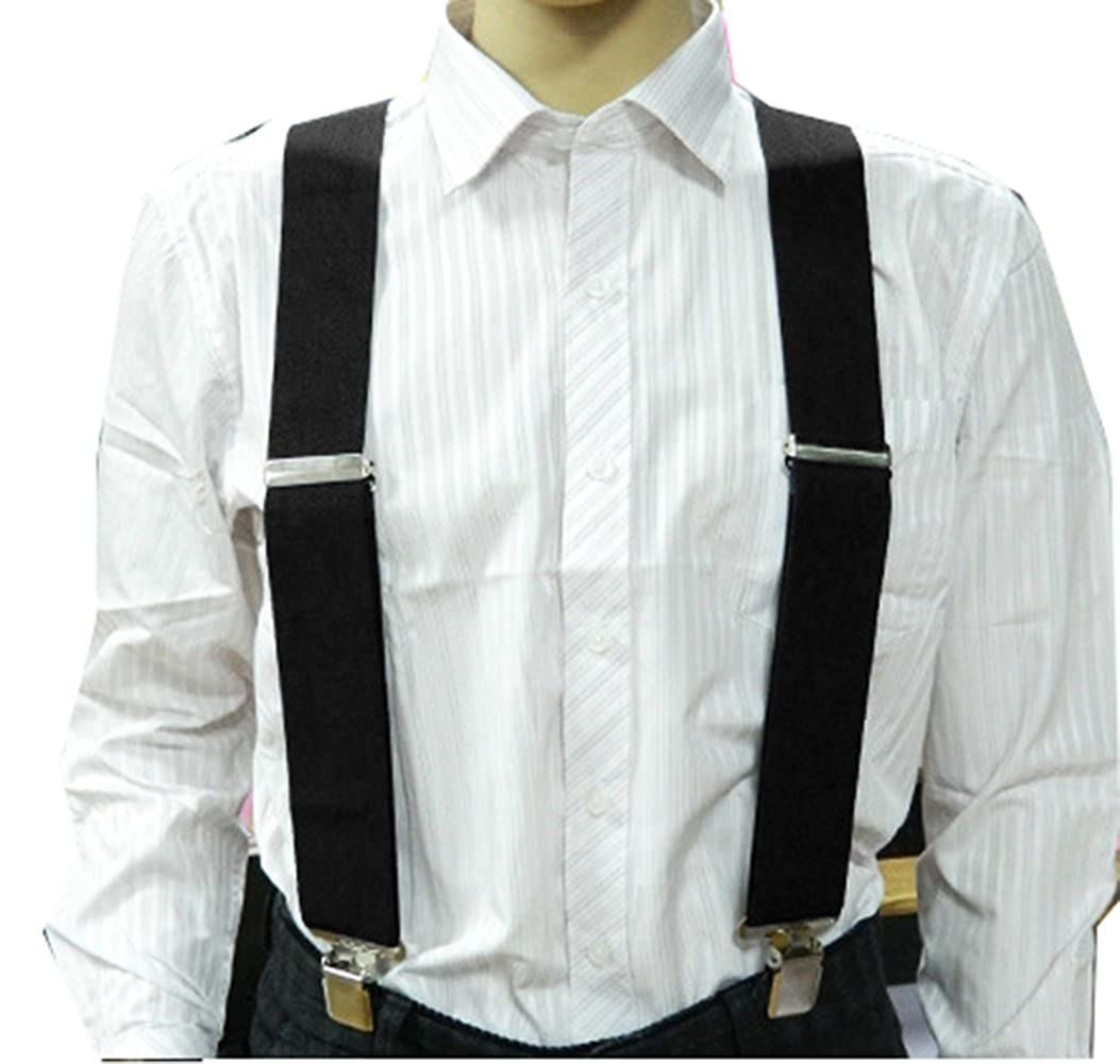 MENDENG Mens Camouflage Clip-End Suspenders 2 Strong Clips Heavy Duty Braces NJz20181132