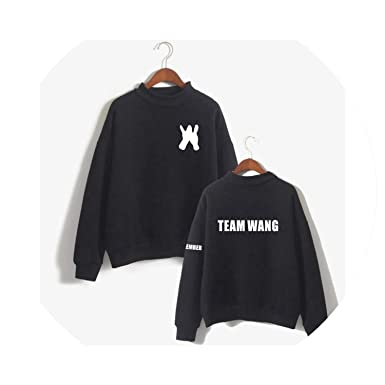 Jackson Loose Turtleneck Hoodies Pullover Team Wang Letter Print Fans Sweatshirt Sudaderas,Black,XXS