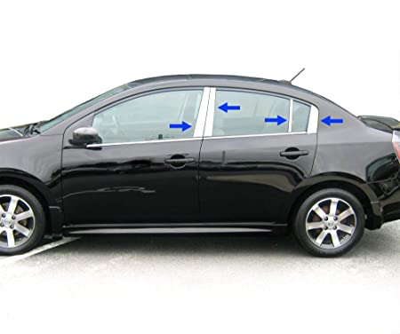 Fits Nissan Maxima 04-08 CHROME B-Pillar Door Cover window Mirror Trim Post