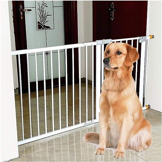 Barreras de puerta Valla de seguridad for bebés extensible for barandilla de escalera Puertas de chimenea de cierre automático Instalación de barandilla de aislamiento de perro mascota: Amazon.es: Hogar