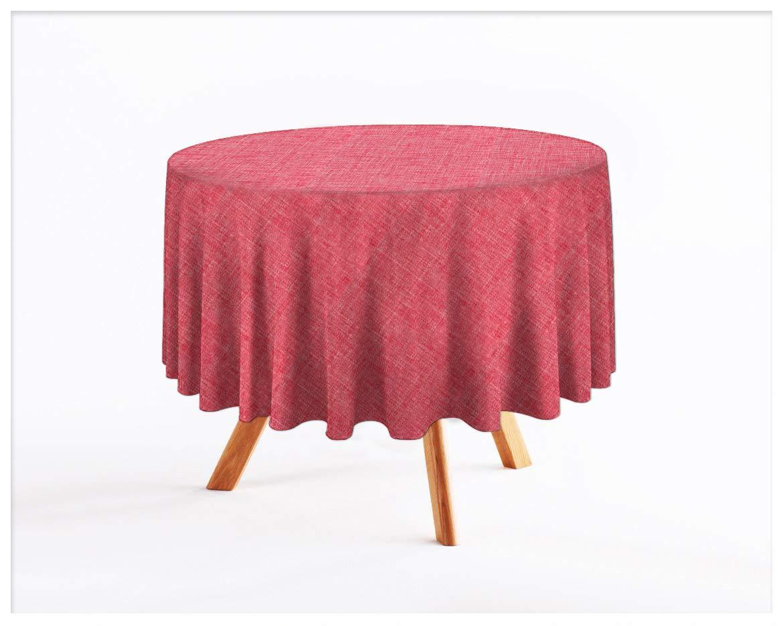 Rollmayer abwaschbar Tischdecke Wasserabweisend Lotuseffekt (Melange Rosa 741, Rund Ø 100cm) Leinenoptik Tischtuch mit pflegeleicht Fleckschutz, Rund, Farbe & Größe wählbar B07Q31R8T5 Tischdecken Moderne Technologie  | Erste in sein