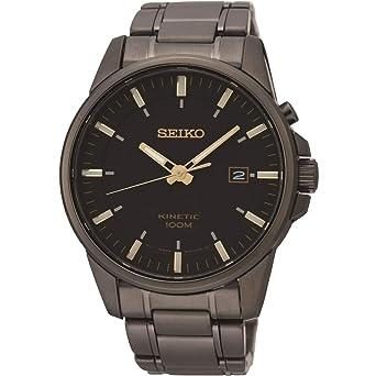 Seiko Reloj Analógico para Hombre de Kinetico con Correa en Acero Inoxidable SKA755P1: Amazon.es: Relojes