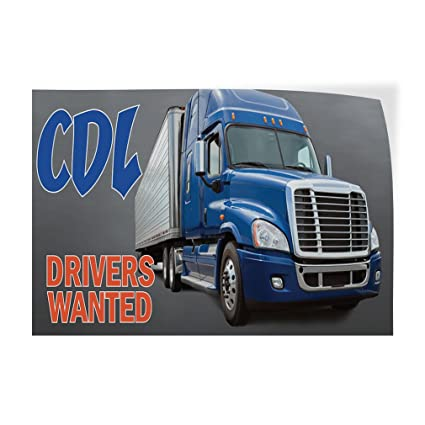One Sticker 69inx46in Decal Sticker Multiple Sizes Drivers Wanted Business Drivers Outdoor Store Sign Blue