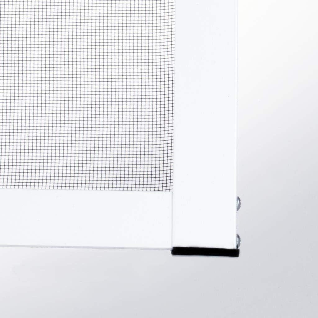Profi Insektenschutz brauner Rahmen Premium Slim Fliegengitter f/ür Fenster als Alubausatz mit Fiberglasgewebe 80 cm x 100 cm