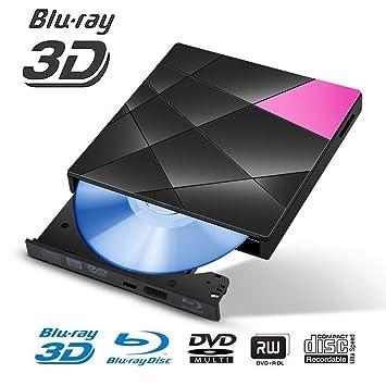 ZUKABMW Unidad Externa BLU-Ray, USB 3.0 y Type-C Reproductor de ...