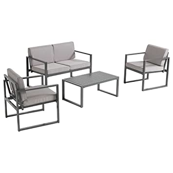 Amazon.de: OUTLIV. Gartenlounge Set Manhattan Loungemöbel Balkon 4 ...