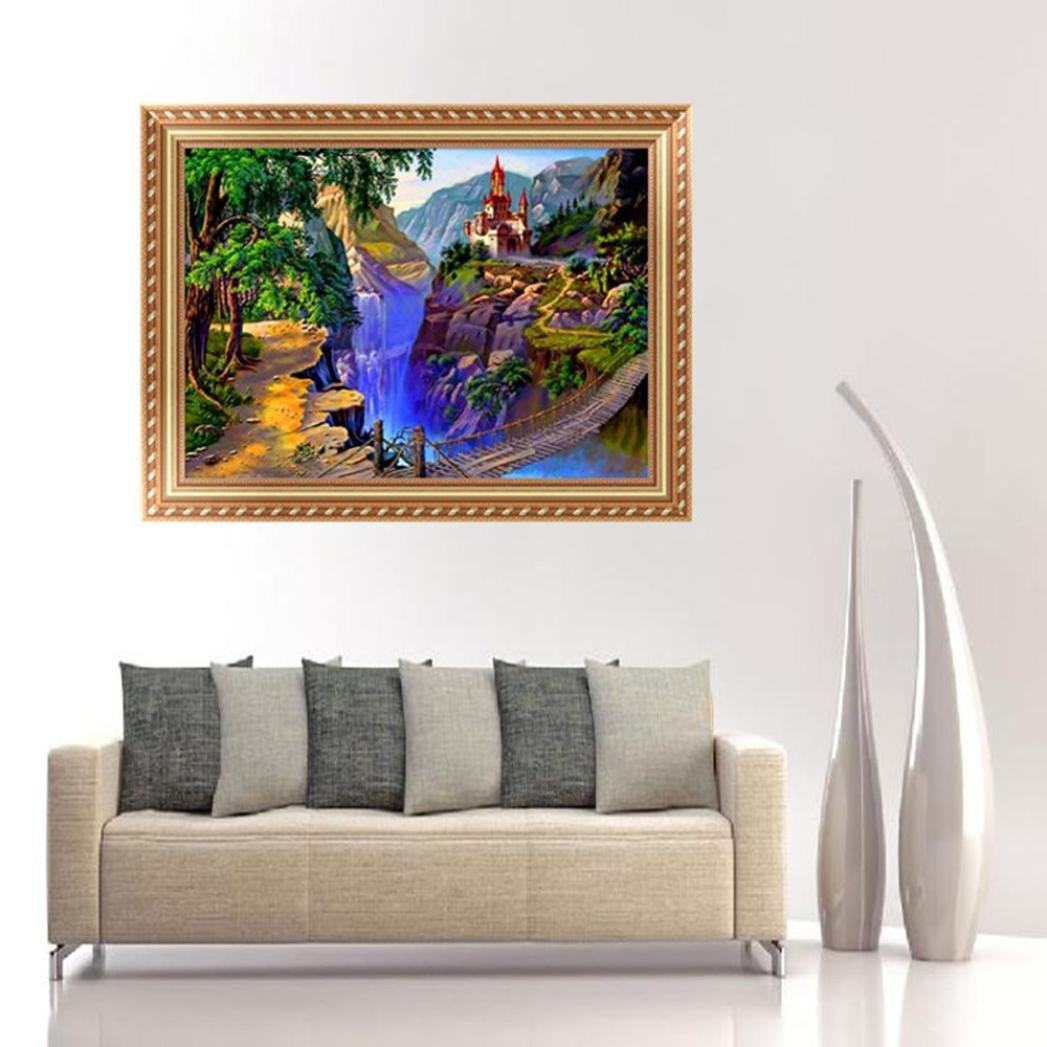 Amazon.com: botrong 5d paisaje DIY Pintura de diamante de ...