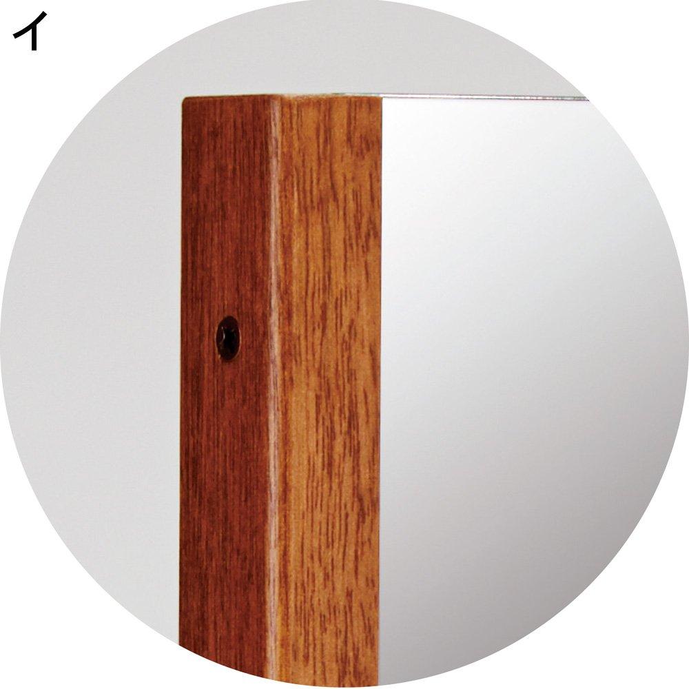 40×150cm 割れない軽量フィルムミラー プレミアム 天然木フレーム 534316(サイズはありません イ:ブラウン) B0794W8RTXイ:ブラウン
