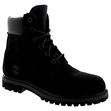 sale retailer a6034 4dcd4 Amazon.com  Timberland Womens 6 Inch Premium Suede Black Lace Up Ankle High  Boots - Black - 9  Sports   Outdoors