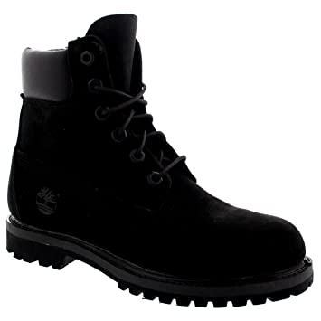 timberland 6 inch boots black womens