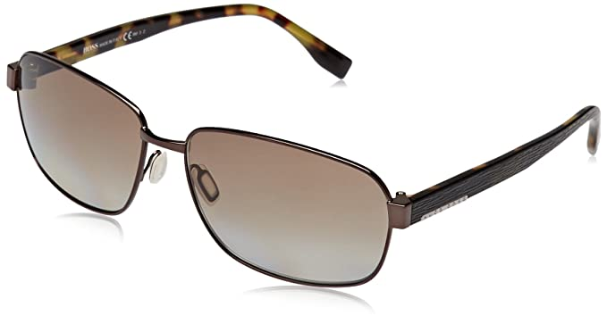 Hugo Boss Herren Sonnenbrille Boss 0649/F/S LA Ojs, Braun (Bw Black Hvn Green/Brown Sf Pz), 63
